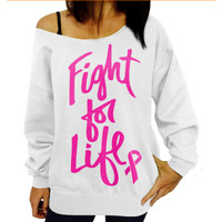 Fashion letters printed sweater