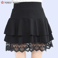 skorts women anti-emptied elastic waist lace tennis skorts outdoor hike leisure style sportswear black skirts summer 0171