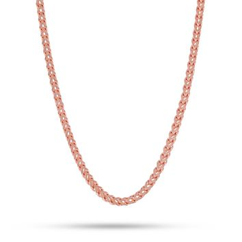 4mm, Rose Gold Stainless Steel Franco Chain