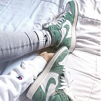 Air Jordan 1 Turbo Green Fashionable Women Men High Help Sport Shoes Sneakers