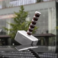 3D Car Stickers For Marvel Avengers Thor Hammer Doll Decals Automobile Stickers Creative Funny Car styling Accessories