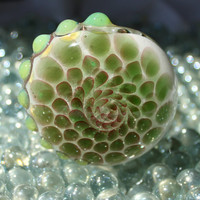 Green Honeycomb Inside out glass pipe American Made