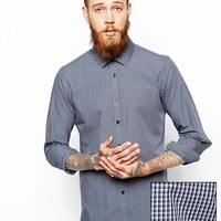 ASOS Smart Shirt In Long Sleeve With Shadow Check