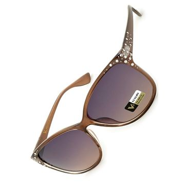 Fun in the Sun~Crystal Accent Frame Women's Sunglasses
