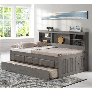 Claire Full Size Grey Storage Bed