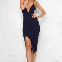 Cool It Midi Dress Navy