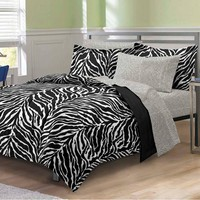 My Room Black & White Zebra Full 7 Piece Bed In A Bag by My Room Bedding: The Home Decorating Company