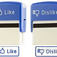 Facebook Like and Dislike Stamps - Gag Gifts  Pranks