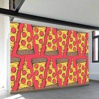 Pizza Party Wall Mural