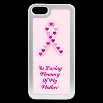 Pink Hearts Ribbon iPhone 5 Switch Case> Non-Clothing Pink Ribbon With Hearts> Flamin Graphic Designs