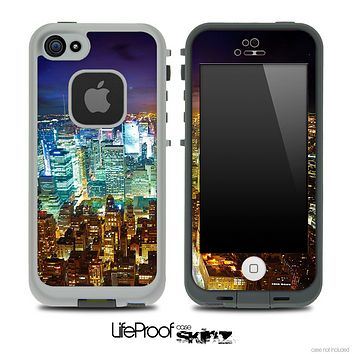 Bright Night NYC Skyline Skin for the iPhone 5 or 4/4s LifeProof Case