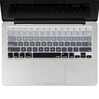 """Kuzy - Gray Ombre Colors Keyboard Cover Silicone Skin for MacBook Pro 13"""" 15""""..."""
