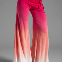 Young, Fabulous & Broke Wide Leg Pant in Fuchsia Sunset Ombre from REVOLVEclothing.com