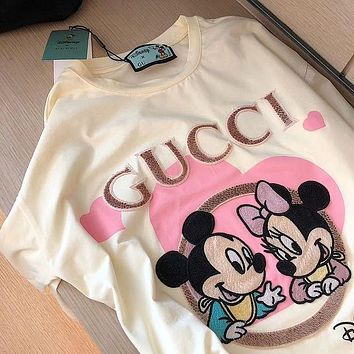 GUCCI G's, Mitch, embroidered plaid, printed t-shirts