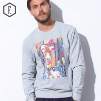 Winter Indian Pattern Print Long Sleeve Round-neck Hoodies [8822205891]