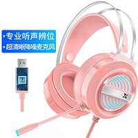 Head-Mounted Computer Eating Chicken Headset With Microphone Gaming Gaming Headset 7.1-Channel Wired Headset