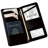 Royce Leather Checkpoint Passport Travel Wallet in Genuine Leather