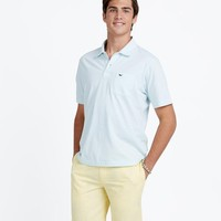 Channel Striped Jersey Polo