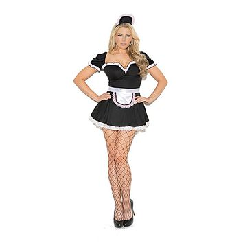 Sexy Plus Size Maid To Please Costume