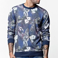 On The Byas Beck Crew Fleece - Mens Shirt - Blue