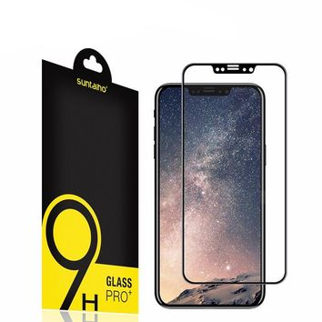 4D Full Curved Tempered Glass For iPhone X Screen Protector 9H Electroplated Curved Edge For iPhone X