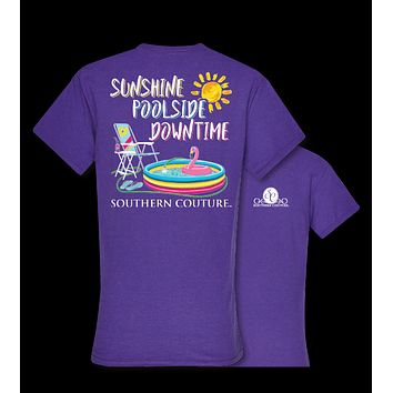 Southern Couture Sunshine Poolside Downtime Summer T-Shirt