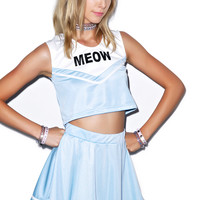 Do Ya Want Meow? Cheerleader Set Blue