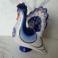 Thanksgiving Turkey - Soviet Vintage Porcelain Turkey Pepper shaker Figurine Made in USSR in 1970s.