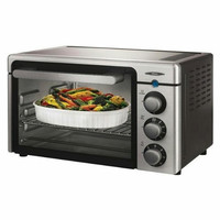 Oster Channel 6-Slice Toaster Oven, Brushed Stainless Steel - Reconditioned