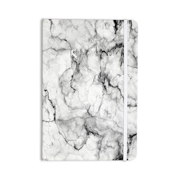 """Chelsea Victoria """"Marble No 2 """" Black Modern Everything Notebook"""