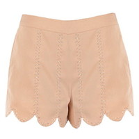 Embellished Peach Shorts | Women's Bottoms | RicketyRack.com