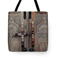 """Wooden Door Tote Bag for Sale by Ivy Ho (18"""" x 18"""")"""