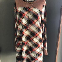 Red Multi Plaid Dress