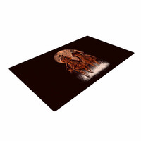 "BarmalisiRTB ""Come At Night"" Brown Orange Woven Area Rug"