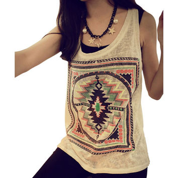 Hot 2016 Summer New Women Sexy Loose Sleeveless Cotton Vest Tank Tops Blouse Casual Beach Crochet Top blusas Camisole Shirts Z2
