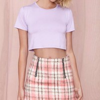 After Party Vintage Betina Crop Top - Lilac