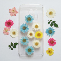 Samsung Galaxy note 5 Case, Galaxy S6 Edge case Pressed Flower, Clear  S6 Cases, Galaxy S5 Case Clear, pressed flower samsung galaxy case