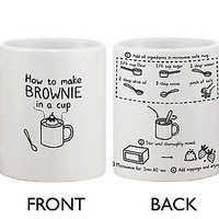 Cute Recipe in a Coffee Mug - How to Make Brownie in a Cup