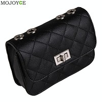 New Lady Quilted Chain Strap Shoulder Bag Women Messenger Bags for Evening Party Wedding Clutch Women Leather Handbag Sac SN9
