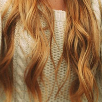 """Ready to Ship - 22"""" Inch Strawberry Blonde Clip In Hair Extensions"""