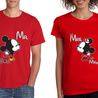 Mr soul Mrs mate kiss couples shirts Valentines day