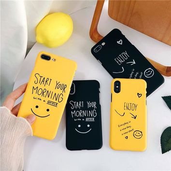 Black & Yellow Text Phone Case
