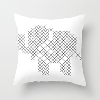 Elephant Throw Pillow by Yasmina Baggili