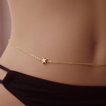 Gold Star Belly Chain