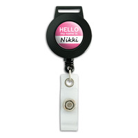 Nikki Hello My Name Is Retractable Badge Card ID Holder