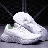 NIKE Free Rn Fashion socks shoes fly line running shoes F-CSXY full white