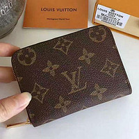 LV Louis Vuitton Classic Zipper Short Wallet Fashion Men's and Women's Wallets Card Case