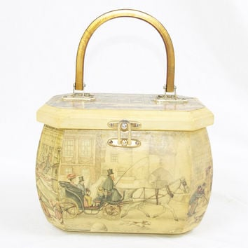 Anton Pieck Vintage Wood Purse