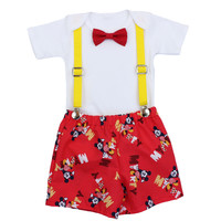 Mickey Mouse First Birthday Outfit   Smash Cake Outfit   Boys 1st Birthday Outfit