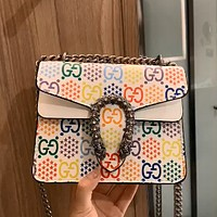GUCCI x DISNEY joint Bacchus snake head bag chain bag shoulder bag crossbody bag